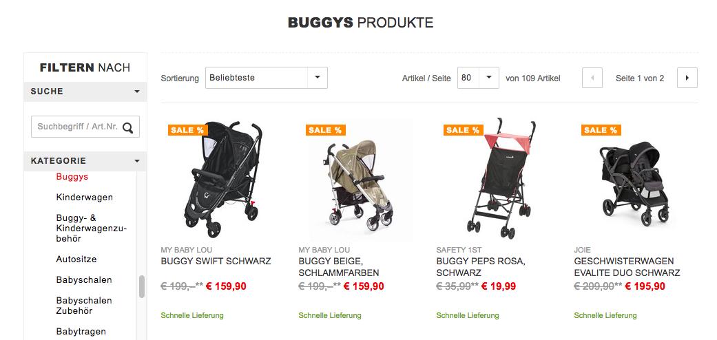 leichte buggys kaufen im xxxl shop buggy test die. Black Bedroom Furniture Sets. Home Design Ideas